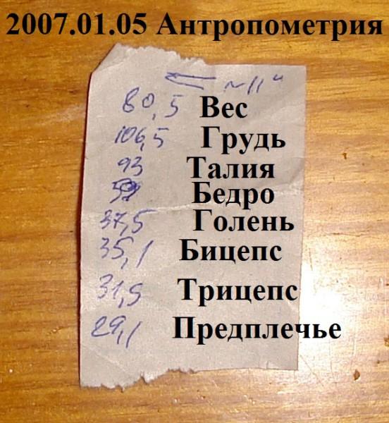 2007.01.05 Антропометрия
