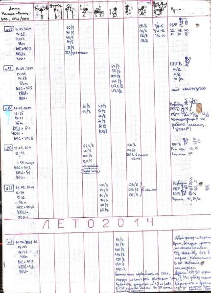 Дневник тренировок 2014