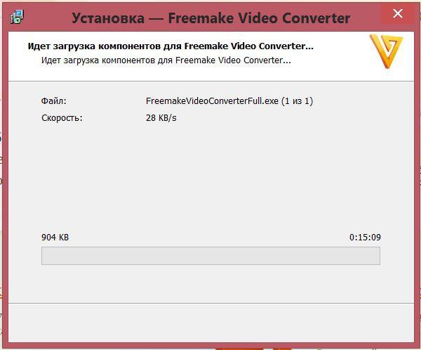 дожидаемся загрузки компонентов Freemake Video Converter