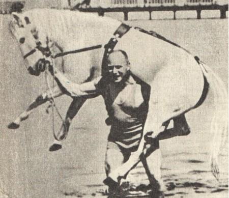 Засс несёт лошадь