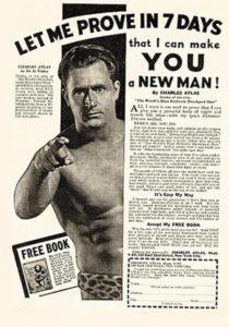 Реклама системы тренировок Чарльза Атласа