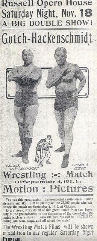 Афиша Готч против Гаккеншмидта, 1911 год